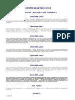 Ley de Implementación de Medidas Fiscales,Aprobación Del Presupuesto General de Ingresos y Egresos Del Estadopara El Ejercicio Fiscal 2015 y Aprobación de Financiamiento Para El Ejercicio Fiscal 2014