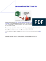 Plotting Keterangan Elevasi Dari Excel Ke AutoCAD