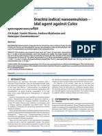 Nanoemulsion a Potent Larvicidal Agent Againt Culex