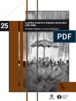 25 La Politica Social de La Argentina Democratica Falappa y Andrenacci