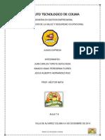 Manual Seguridad Higiene ejemplos comida rapida (empresa Jugos Express)