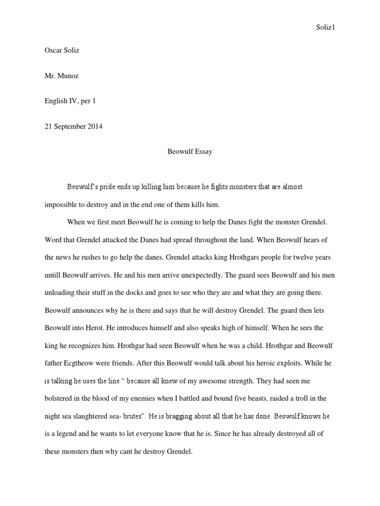 beowulf rough draft beowulf old english poems