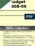 Budget 2008-09