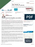 La Crónica de Hoy   Fiscalía General de la República, una realidad