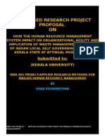AN APPLIED RESEARCH PROJECT PROPOSAL  ON HRM