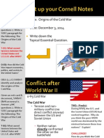 WEBNotes - Day 1 - 2014 - Origins of the Cold War