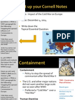 WEBNotes - Day 2 - 2014 - Impact of the Cold War on Europe