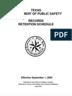 TXDPS Records Retention