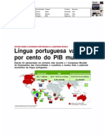 Língua portuguesa vale 4,6% do PIB mundial