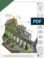 3D Lansekap of kawasan Wisata