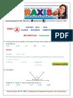 Area A - Matematicas - Solucionario