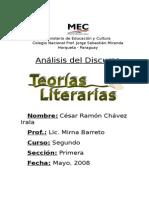 Análisis Del Discurso Teorías Literarias