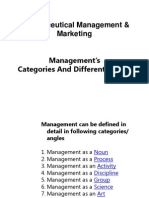 Management Categories