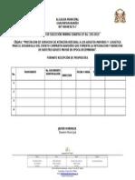 3. Formato Recibo de Propuestas