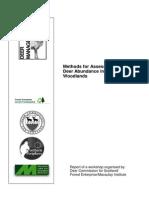 Methods for Assessing Deer Abundance in Woodlands