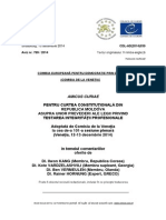 Comisia de la Veneţia a comunicat Curţii Constituţionale opinia sa referitoare la Legea privind testarea integrităţii