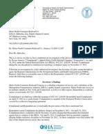 OSHA report on Metro-North complaint