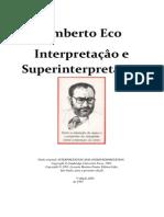 Umberto Eco - Interpretação e Superinterpretação Clean Version