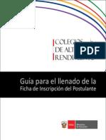 Guia Ficha de Inscripcion COAR