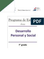 7° Desarrollo Personal y Social