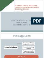 Rancangan Model Sistem Pertanian Terpadu (Spt)