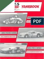 1992 ARCA Racing Yearbook Midgets Figure 8, & Pro 4 Series