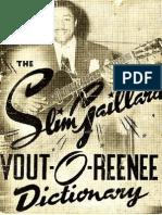 Slim Gaillard - The Slim Gaillard Vout-O-Reenee Dictionary