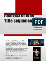 Analysis of Juno Title Sequence