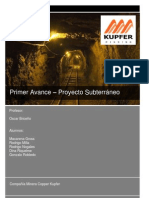 Proyecto Subterraneo Minera Copper
