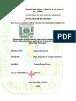 Gestión  en la conservación de la especie Herpsilochmus parkeri en la Microcuenca Almendra.doc