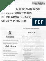 9564 Sony Aiwa Sharp Pioneer Servicio a Mecanismos de CD