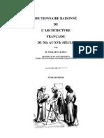 Dictionnaire Raisonné de Architecture Francais