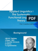 Applied Linguistics 1 PPT 7 the Systemic Functional Theory (2)