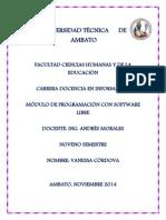 Programacion Software Libre