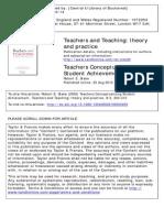Teachers Conceptualizing Student Achievment