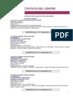 Calendari Activitats Gener 2015 CEV
