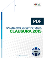 Calendario Torneo Clausura 2015 Liga MX