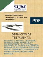 SUCESION-TESTAMENTO