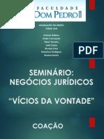 Coação Slides - Negocios Juridicos