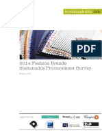 2014 Fashion Brands Sustainable Procurement Survey