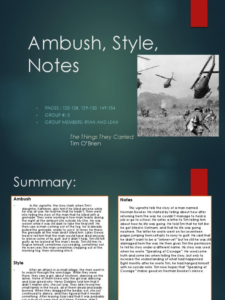 literary devices in ambush