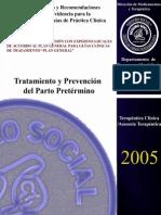 Parto Pretermino- Tocolisis