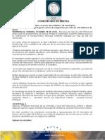08-10-2013 El Gobernador Guillermo Padrés entregó recursos por más de 178 millones de pesos del COMUN a 58 municipios. B101340
