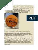 El balón de basquetbol