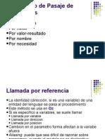 Mecanismos de Pasaje de Parametros
