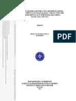 Analisis Faktor2 Yg Mempengaruhi Ekspor Ruput Laut Dan Kajian Trend Volume Ekspor Rumput Laut Indonesia Ke Cina