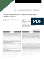 Respuesta emocional en adictos a sustancias en tratamiento ambulatorio