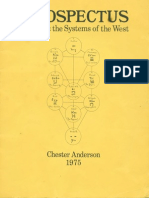 0 0 Anderson Chester PROSPECTUS I Ching and the Systems of the West