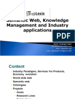 Semantic Web, Knowledge Management and Industry Applications