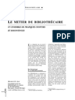 33190 Le Metier de Bibliothecaire